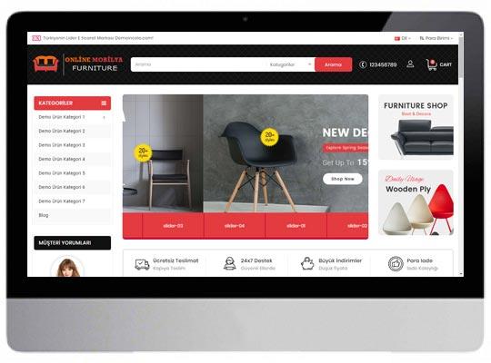 Mobilya E-ticaret Web Sitesi