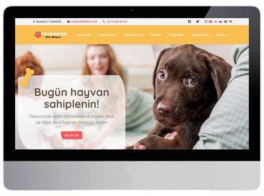 Veteriner Kliniği Web Sitesi