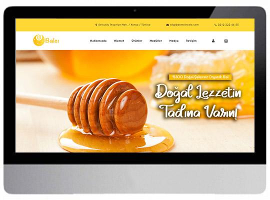 Bal ürünleri Hazır Web Sitesi
