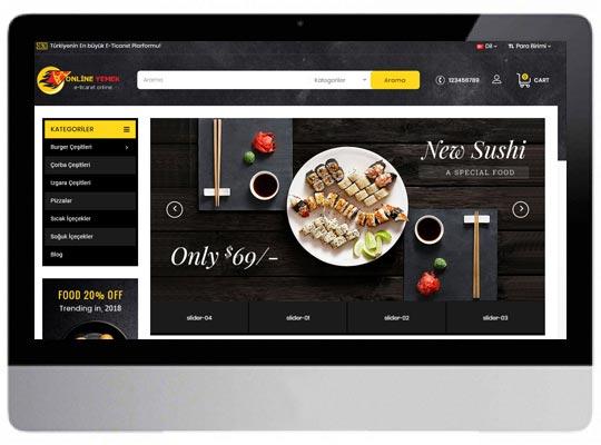 Yemek E-ticaret Web Sitesi
