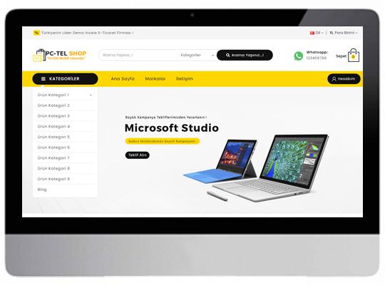 E-Ticaret Bilgisayar - Telefon Web Sitesi