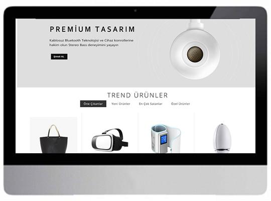 Elektronik E-Ticaret Web Sitesi