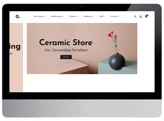 E-Ticaret Ev Dekorasyon Web Sitesi