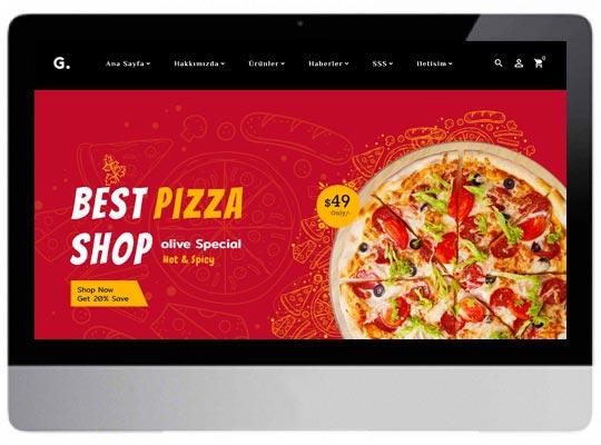 E-ticaret Fast Food Web Sitesi