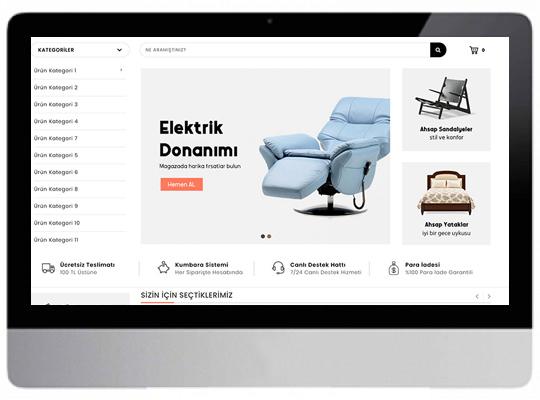 Mobilyacı E-ticaret Web Sitesi