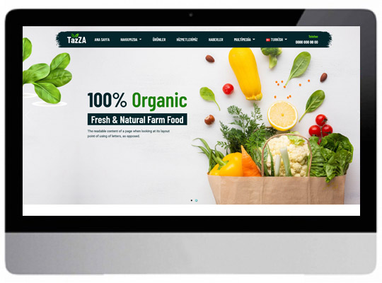 Organik Ürün / Tarım  Web Sitesi