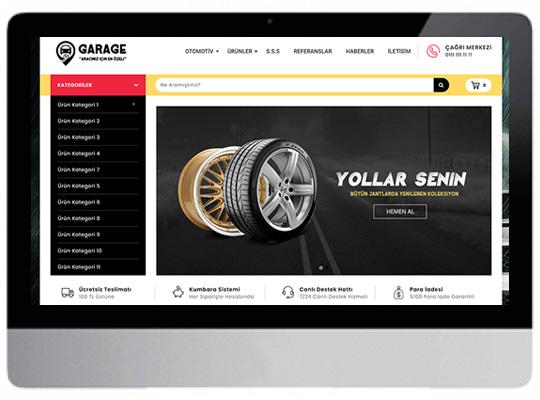 Oto Lastik Yedek Parça Web Sitesi