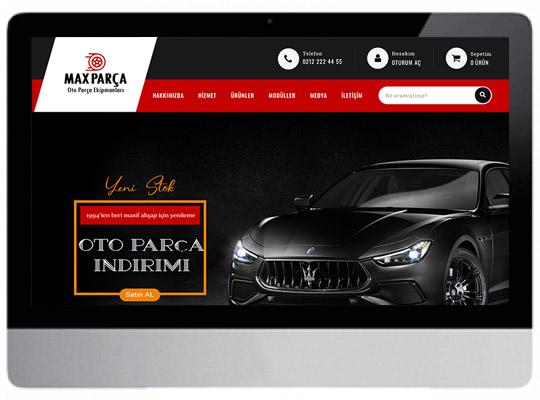 Oto Yedek Parça Web Sitesi