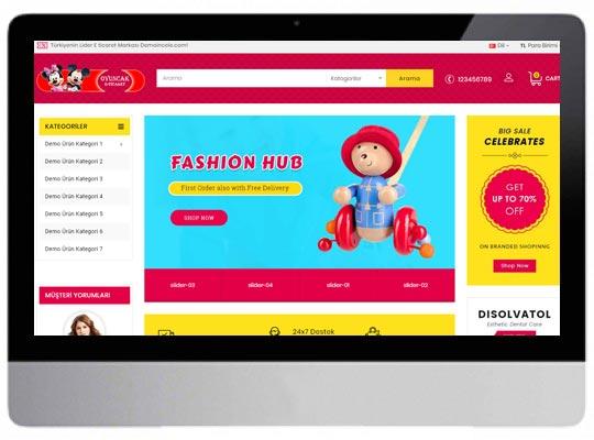 Oyuncakçı E-ticaret Web Sitesi