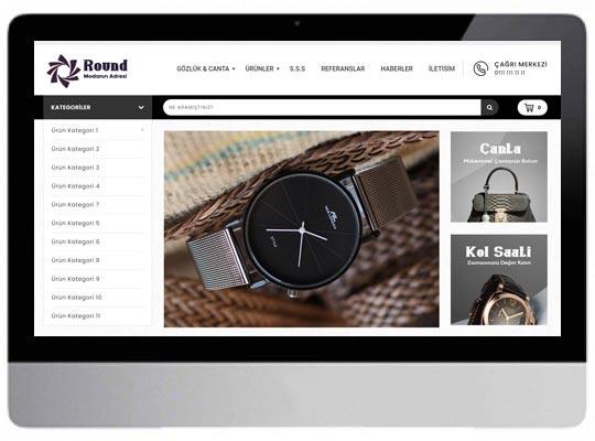 Saat - Gözlük E-ticaret Web Sitesi