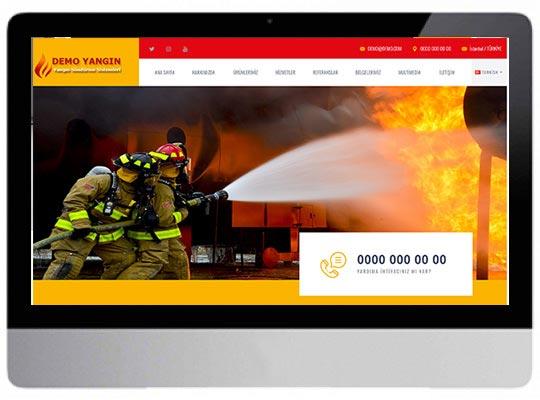 Yangın Söndürme Firma Web Sitesi